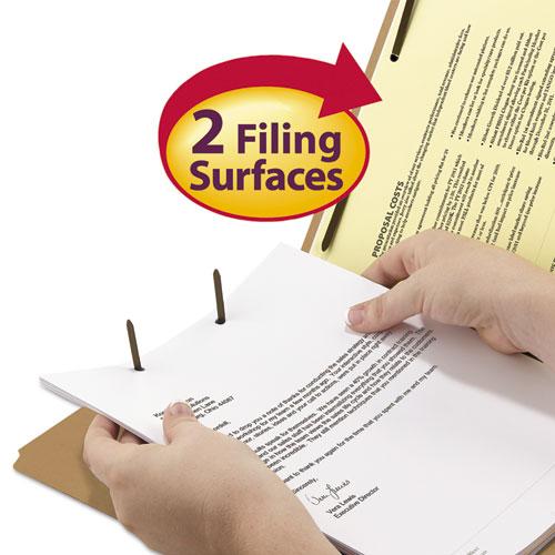 Top Tab 2-Fastener Folders, 1/3-Cut Tabs, Legal Size, 11 pt. Kraft, 50/Box. Picture 3