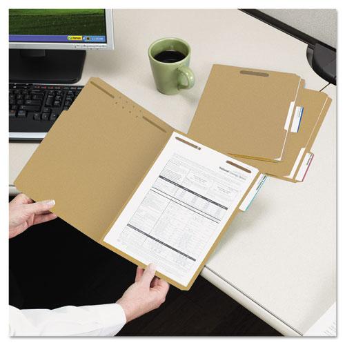 Top Tab 2-Fastener Folders, 1/3-Cut Tabs, Legal Size, 11 pt. Kraft, 50/Box. Picture 4