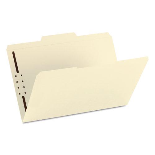 Top Tab 1-Fastener Folders, 1/3-Cut Tabs, Legal Size, 11 pt. Manila, 50/Box. Picture 4