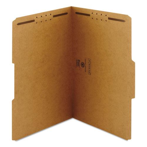 Top Tab 2-Fastener Folders, 1/3-Cut Tabs, Legal Size, 11 pt. Kraft, 50/Box. Picture 5