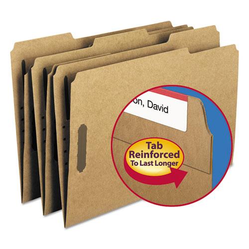 Top Tab 2-Fastener Folders, 1/3-Cut Tabs, Legal Size, 11 pt. Kraft, 50/Box. Picture 1