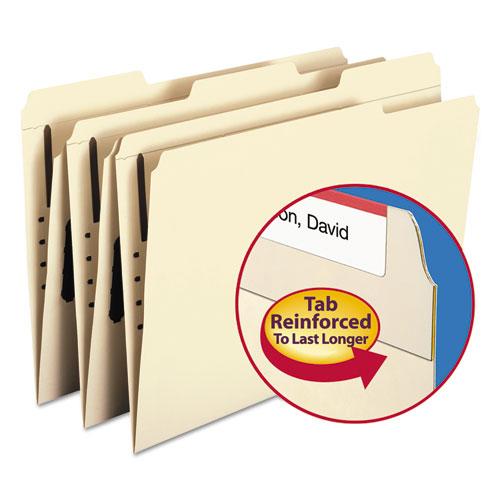 Top Tab 1-Fastener Folders, 1/3-Cut Tabs, Legal Size, 11 pt. Manila, 50/Box. Picture 5