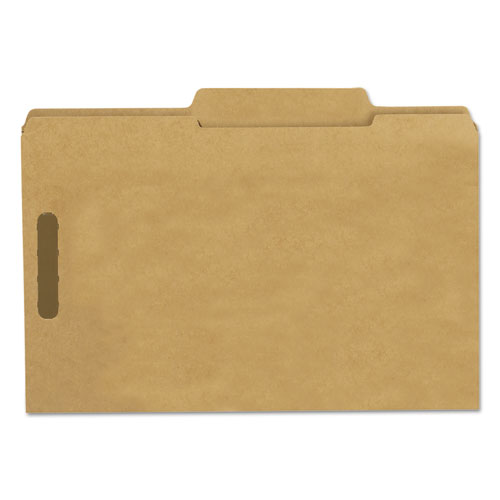 Top Tab 2-Fastener Folders, 2/5-Cut Tabs, Right of Center, Legal Size, 11 pt. Kraft, 50/Box. Picture 2