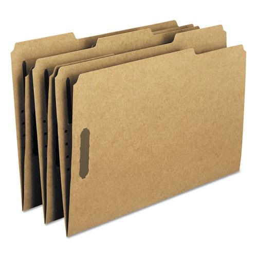 Top Tab 2-Fastener Folders, 1/3-Cut Tabs, Legal Size, 11 pt. Kraft, 50/Box. Picture 6