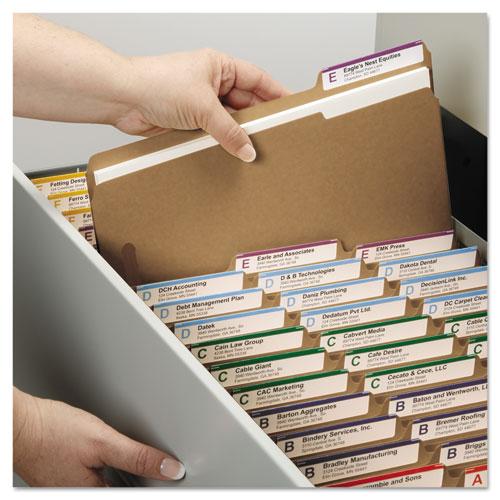 Top Tab 2-Fastener Folders, 1/3-Cut Tabs, Legal Size, 11 pt. Kraft, 50/Box. Picture 7
