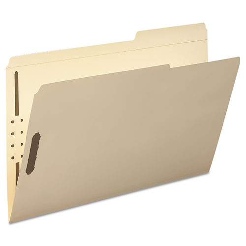 Top Tab 2-Fastener Folders, 2/5-Cut Tabs, Right of Center, Legal Size, 11 pt. Manila, 50/Box. Picture 2