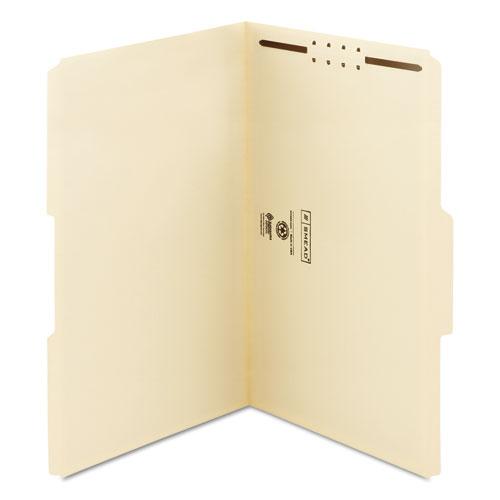 Top Tab 1-Fastener Folders, 1/3-Cut Tabs, Legal Size, 11 pt. Manila, 50/Box. Picture 6