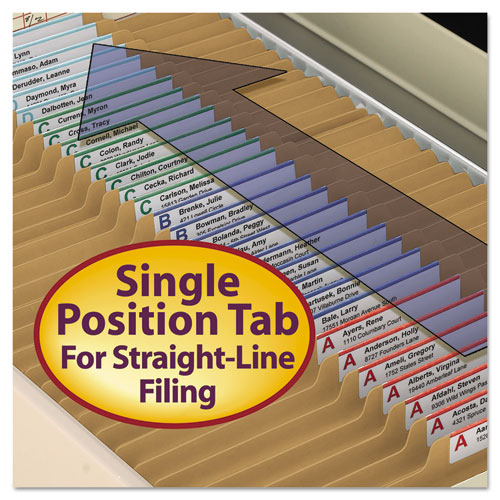Top Tab 2-Fastener Folders, 2/5-Cut Tabs, Right of Center, Legal Size, 11 pt. Kraft, 50/Box. Picture 5