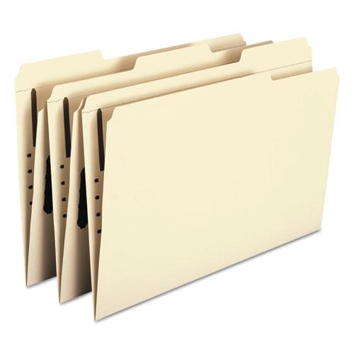 Top Tab 1-Fastener Folders, 1/3-Cut Tabs, Legal Size, 11 pt. Manila, 50/Box. Picture 7