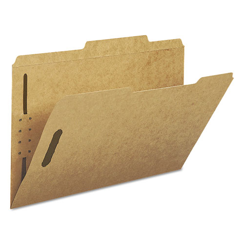 Top Tab 2-Fastener Folders, 2/5-Cut Tabs, Right of Center, Legal Size, 11 pt. Kraft, 50/Box. Picture 6