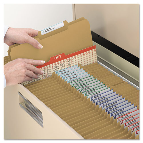 Top Tab 2-Fastener Folders, 2/5-Cut Tabs, Right of Center, Legal Size, 11 pt. Kraft, 50/Box. Picture 7