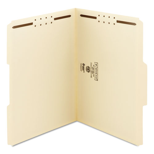 Top Tab 2-Fastener Folders, 1/3-Cut Tabs, Letter Size, 11 pt. Manila, 50/Box. Picture 2