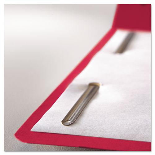 Top Tab Colored 2-Fastener Folders, 1/3-Cut Tabs, Letter Size, Red, 50/Box. Picture 2