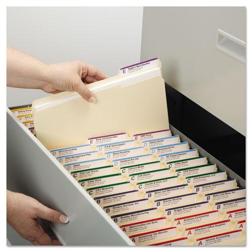 Top Tab 1-Fastener Folders, 1/3-Cut Tabs, Letter Size, 11 pt. Manila, 50/Box. Picture 3