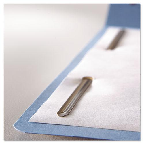 Top Tab Colored 2-Fastener Folders, 1/3-Cut Tabs, Letter Size, Blue, 50/Box. Picture 5