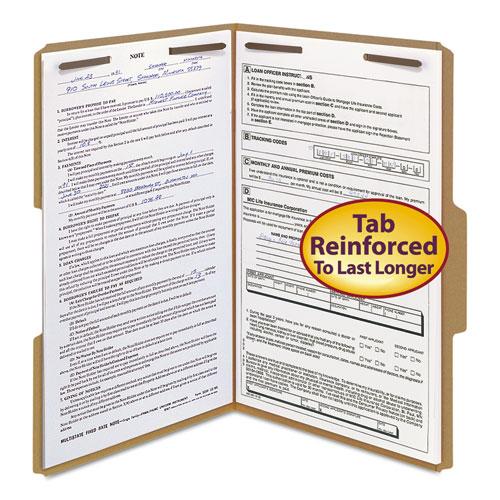Top Tab 2-Fastener Folders, 1/3-Cut Tabs, Legal Size, 11 pt. Kraft, 50/Box. Picture 8