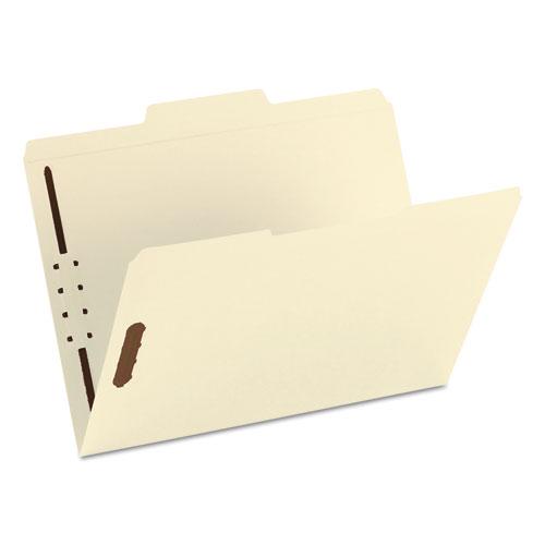 Top Tab 1-Fastener Folders, 1/3-Cut Tabs, Letter Size, 11 pt. Manila, 50/Box. Picture 4