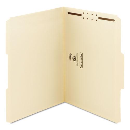 Top Tab 1-Fastener Folders, 1/3-Cut Tabs, Letter Size, 11 pt. Manila, 50/Box. Picture 5