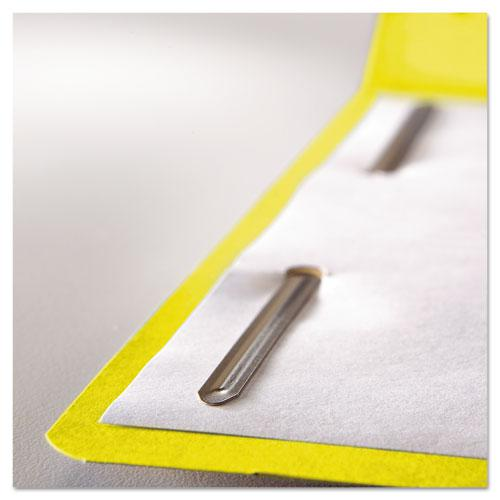 Top Tab Colored 2-Fastener Folders, 1/3-Cut Tabs, Letter Size, Yellow, 50/Box. Picture 2