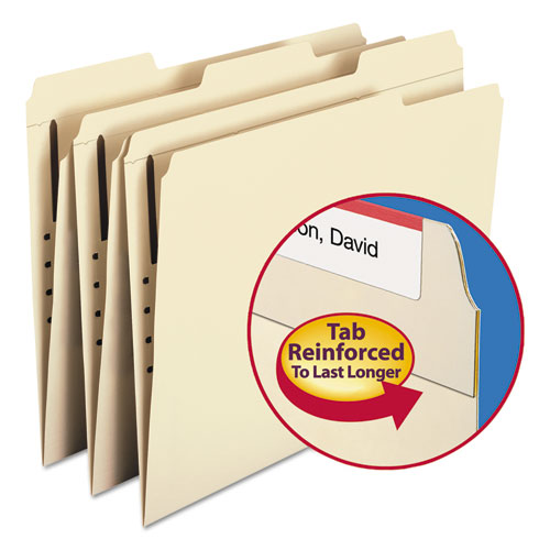 Top Tab 1-Fastener Folders, 1/3-Cut Tabs, Letter Size, 11 pt. Manila, 50/Box. Picture 6