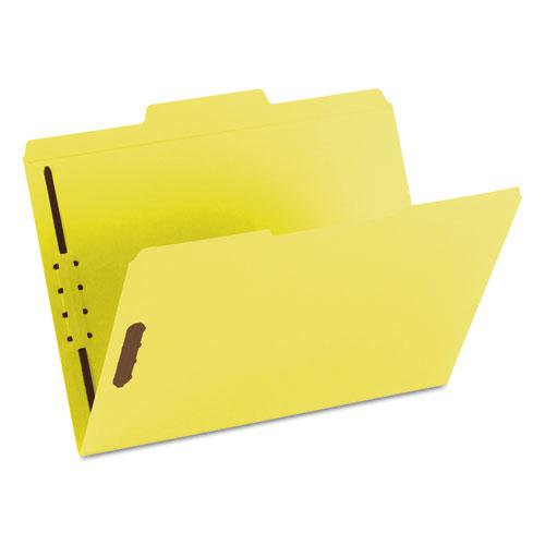 Top Tab Colored 2-Fastener Folders, 1/3-Cut Tabs, Letter Size, Yellow, 50/Box. Picture 9