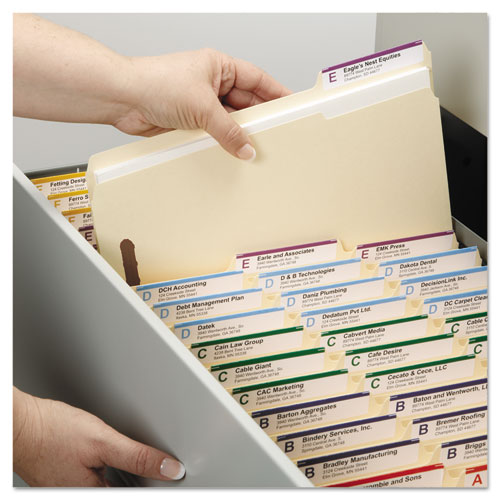 Top Tab 2-Fastener Folders, 1/3-Cut Tabs, Letter Size, 11 pt. Manila, 50/Box. Picture 7