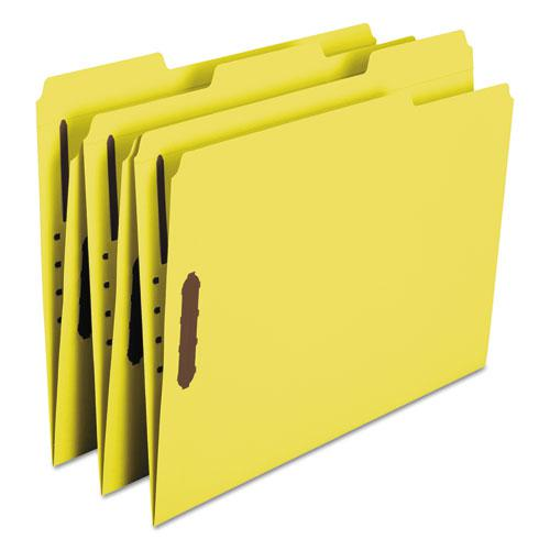 Top Tab Colored 2-Fastener Folders, 1/3-Cut Tabs, Letter Size, Yellow, 50/Box. Picture 8