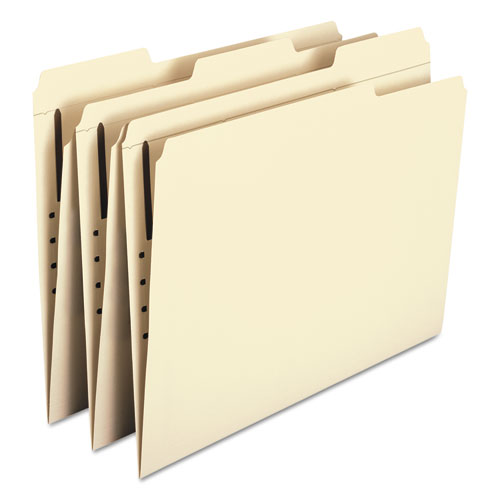 Top Tab 1-Fastener Folders, 1/3-Cut Tabs, Letter Size, 11 pt. Manila, 50/Box. Picture 7