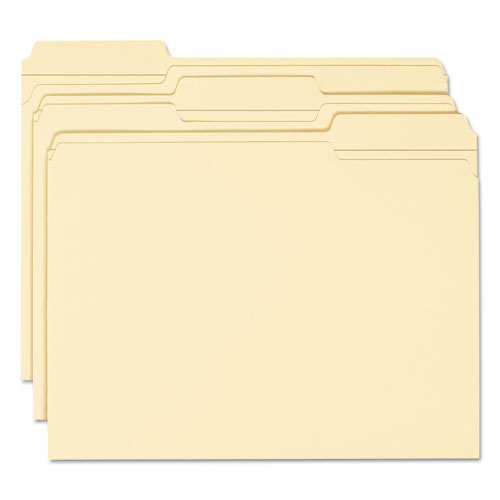 WaterShed Top Tab File Folders, 1/3-Cut Tabs, Letter Size, Manila, 100/Box. Picture 2