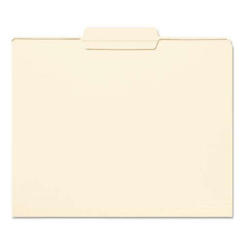 Reinforced Tab Manila File Folders, 1/3-Cut Tabs, Center Position, Letter Size, 11 pt. Manila, 100/Box. Picture 2