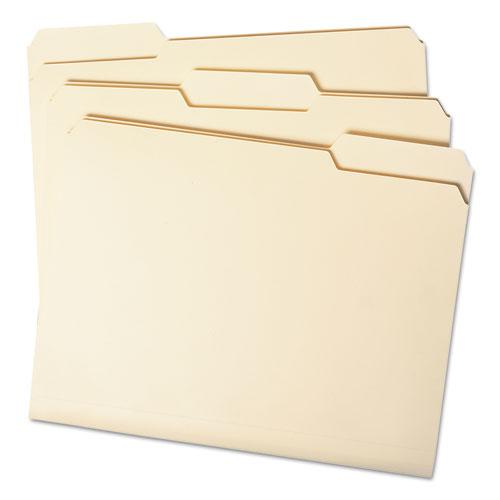 Manila File Folders, 1/3-Cut Tabs, Letter Size, 100/Box. Picture 3