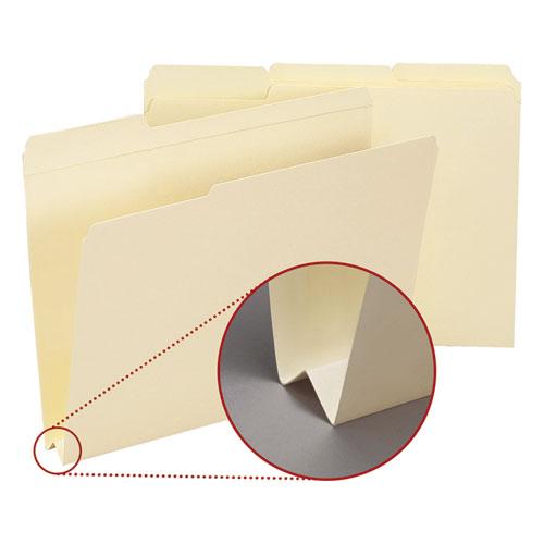 Expandable Heavyweight File Folders, 1/3-Cut Tabs, Letter Size, Manila, 50/Box. Picture 1