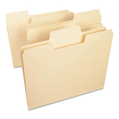 SuperTab Top Tab File Folders, 1/3-Cut Tabs, Letter Size, 11 pt. Manila, 100/Box. Picture 2