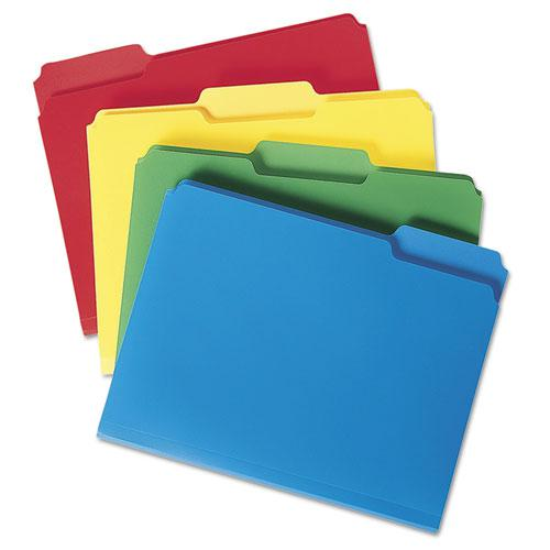 Top Tab Poly Colored File Folders, 1/3-Cut Tabs, Letter Size, Assorted, 24/Box. Picture 3
