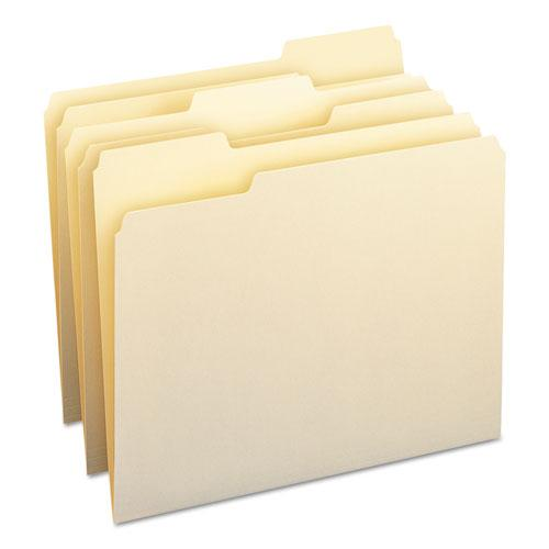 Manila File Folders, 1/3-Cut Tabs, Letter Size, 100/Box. Picture 1