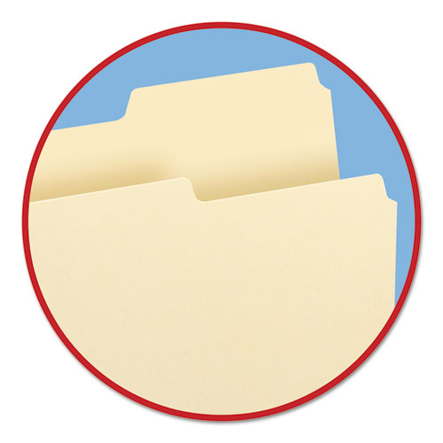 Manila File Folders, 1/3-Cut Tabs, Right Position, Letter Size, 100/Box. Picture 3