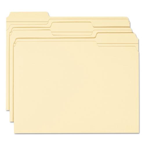 Expandable Heavyweight File Folders, 1/3-Cut Tabs, Letter Size, Manila, 50/Box. Picture 2
