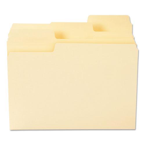 SuperTab Top Tab File Folders, 1/3-Cut Tabs, Letter Size, 11 pt. Manila, 100/Box. Picture 4