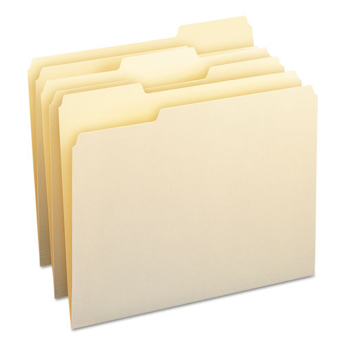 Top Tab File Folders with Antimicrobial Product Protection, 1/3-Cut Tabs, Letter Size, Manila, 100/Box. Picture 3