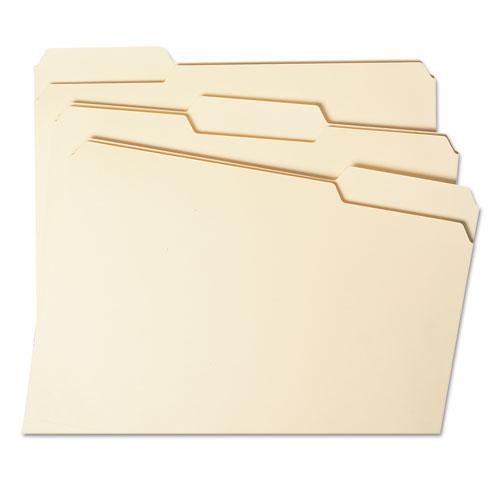 Expandable Heavyweight File Folders, 1/3-Cut Tabs, Letter Size, Manila, 50/Box. Picture 3
