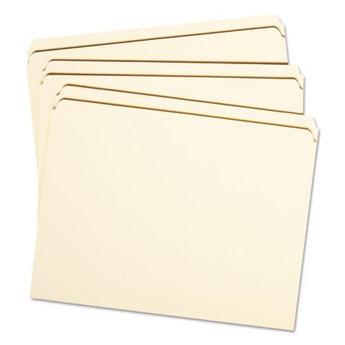 Reinforced Tab Manila File Folders, Straight Tab, Letter Size, 11 pt. Manila, 100/Box. Picture 2