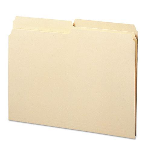 Reinforced Tab Manila File Folders, 1/2-Cut Tabs, Letter Size, 11 pt. Manila, 100/Box. Picture 1