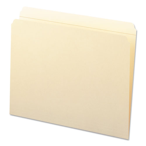 Reinforced Tab Manila File Folders, Straight Tab, Letter Size, 11 pt. Manila, 100/Box. Picture 3