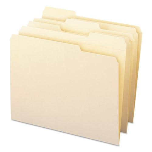 WaterShed Top Tab File Folders, 1/3-Cut Tabs, Letter Size, Manila, 100/Box. Picture 8