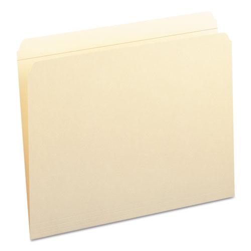 Reinforced Tab Manila File Folders, Straight Tab, Letter Size, 11 pt. Manila, 100/Box. Picture 5