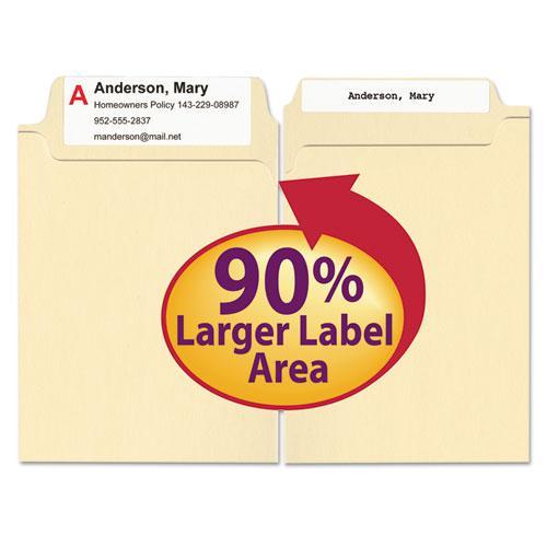 SuperTab Top Tab File Folders, 1/3-Cut Tabs, Letter Size, 11 pt. Manila, 100/Box. Picture 6