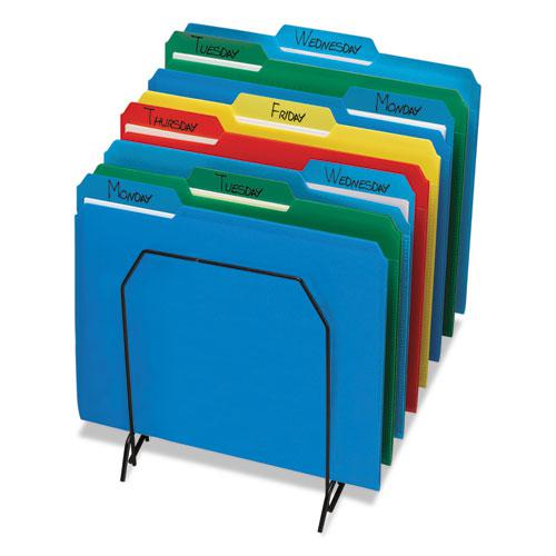 Top Tab Poly Colored File Folders, 1/3-Cut Tabs, Letter Size, Assorted, 24/Box. Picture 4