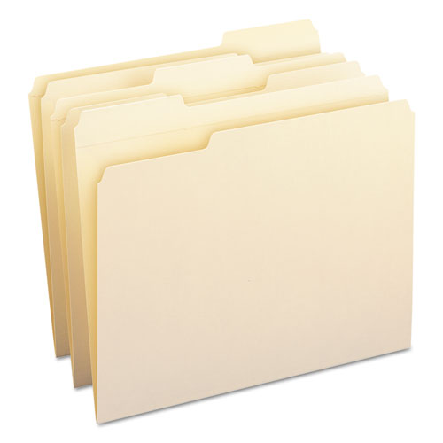 WaterShed Top Tab File Folders, 1/3-Cut Tabs, Letter Size, Manila, 100/Box. Picture 10