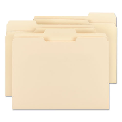 Top Tab File Folders with Antimicrobial Product Protection, 1/3-Cut Tabs, Letter Size, Manila, 100/Box. Picture 6