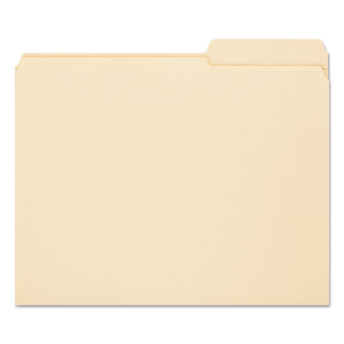 Reinforced Guide Height File Folders, 2/5-Cut Tabs, Right of Center, Letter Size, Manila, 100/Box. Picture 3